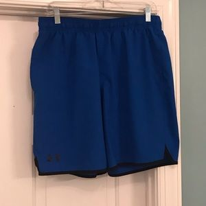 Under Armour shorts. Men's size Large. Blue